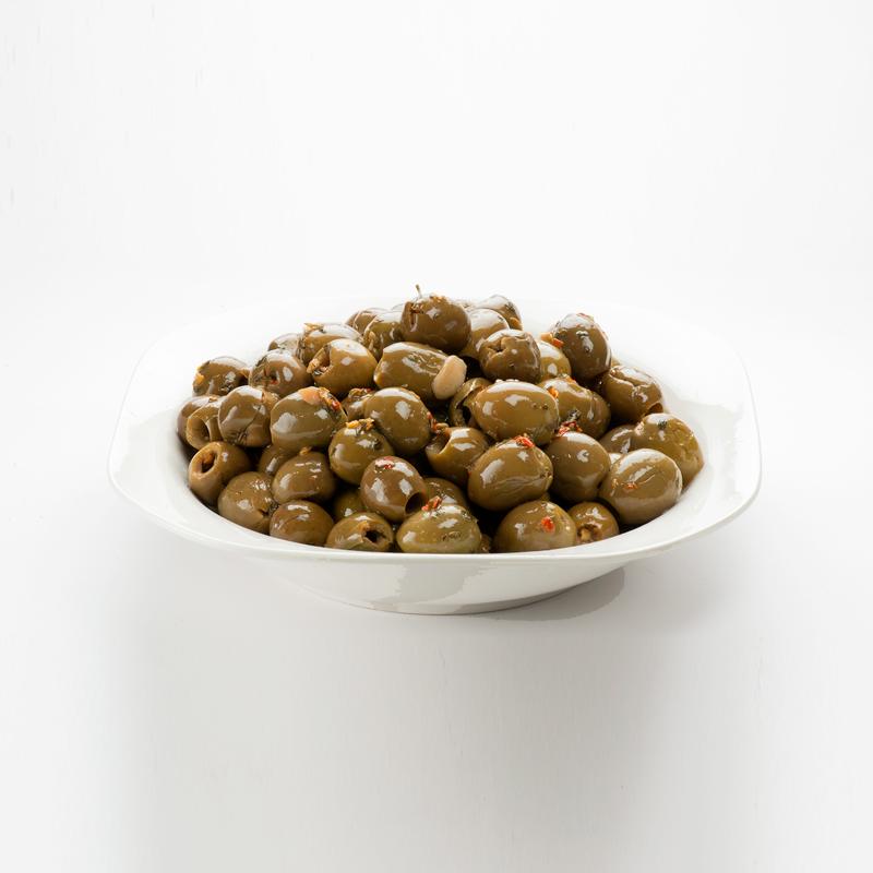 Olive verdi denocciolate paesanelle